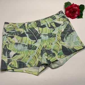 GAP Womens Sz 29 Slim Shorts Palm Tree Leaf Print
